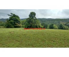 22 acre plain  farm land for sale in sakleshpura, 15 km from town