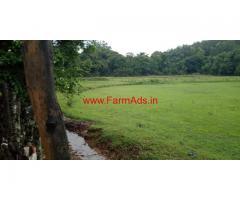 5 acre plain farm land for sale Near yesluru in sakleshpura