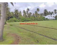 3 acre beach front land with old house for sale in Honnavara
