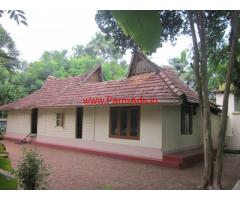36 Cents plot with 800 Sq.ft house for sale at Illimoodu, Changanacherry