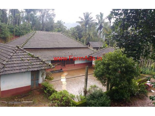 11 acre Farm Land with Coffee Estate for sale at Sringeri