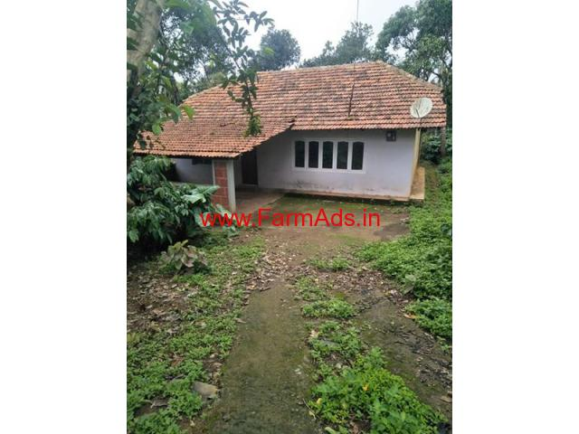 5 Acres coffee estate with house for sale at Heggala 20 kms from Virajpet
