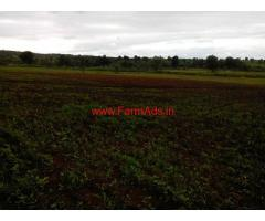 Cheap cost 100 acres plain agriculture land for sale at Narkhed