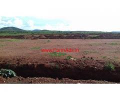 33 Acres Free zone plain plot land is for sale at Hiriyur