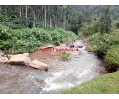 8 acre stream attached farm land for sale in Chikkamgaluru