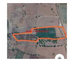 8 acres Open farm Land for sale at kanimetta, Bangalore Highway