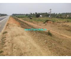 14 Gunta Highway facing Land for sale at Channarayapatna.