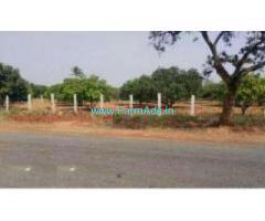 3  acre Mango Groove farm land for sale Facing NH 40 near Dhamalcheruvu