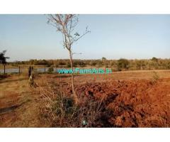 3 Acres scenic farm land for sale at Nugu Back waters in HD Kote