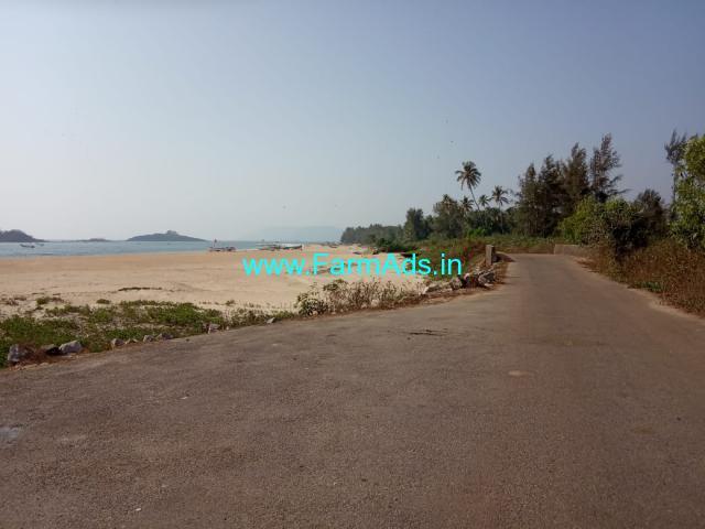 3 Acres 9 Guntas Beach facing property for sale at  Sawantwada, Karwar.