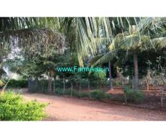 4 Acres Farm Land with Farm House for sale near Nambiyur-Ooty Road