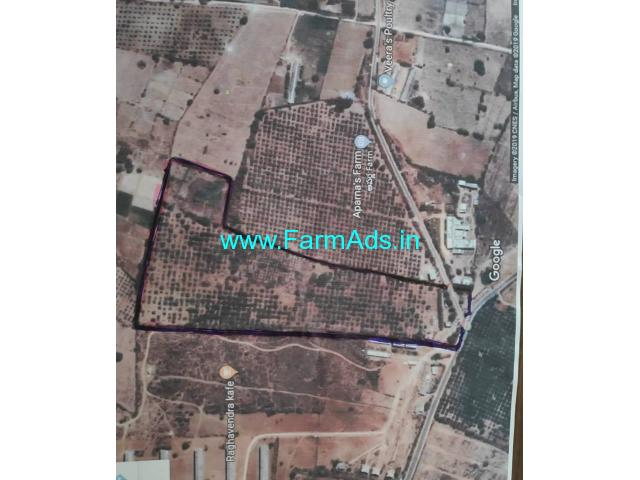 19 Acres Mango Farm land for Sale near Amangal, Bangalore Highway