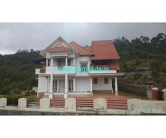 Fully Furnished Farm Bungalow For Sale in Ooty
