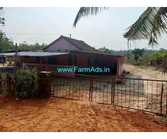 10 Acres Farm Land with Farm House for Sale in Thirthahalli