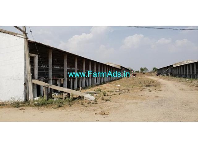 8 Acres FarmLand with Chicken Hatcheries for Sale at Kagaz Maddur