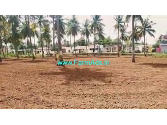 20 gunta lake and village adjacent farm land for sale near channapatna.