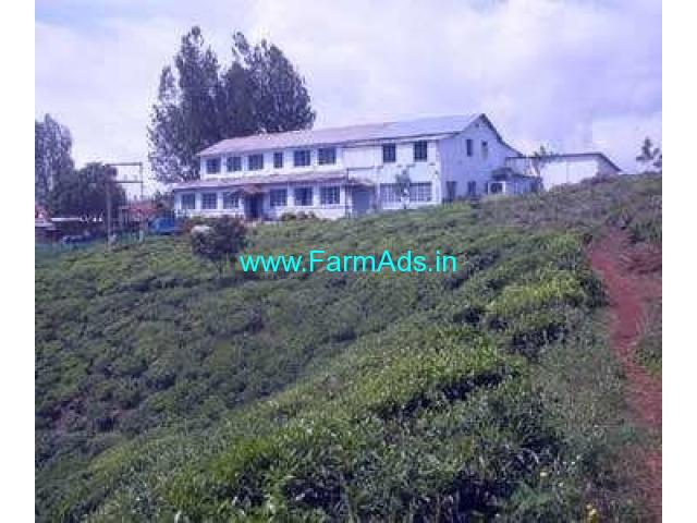 30 Acres Tea Estate with British Bungalow For Sale at Coonoor