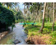 1.21 acres of water stream frontage land for sale in Attappady
