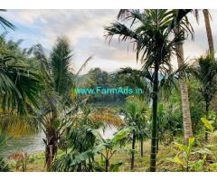 River Side 3.30 acres agriculture land for sale near Attapady