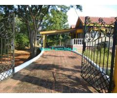 1350 yards Northwest face guest house for sale in a  Resort at Shamirpet.