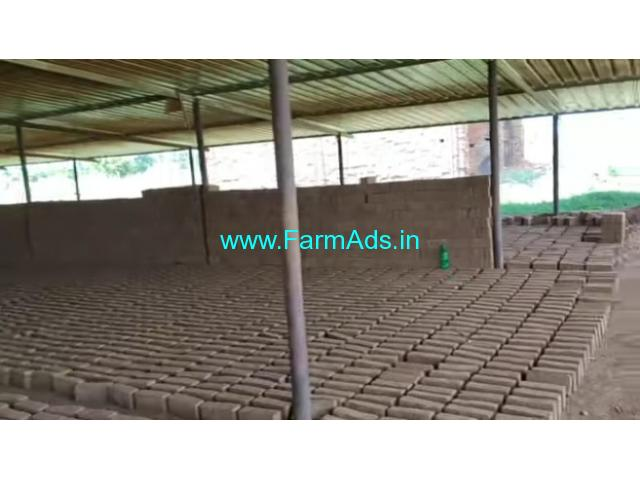 4 Acres agriculture land for sale with Brick factory at Bukkapatna, Sira