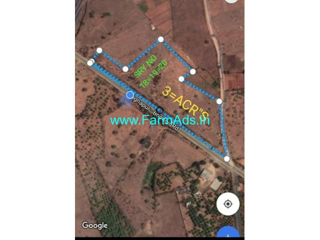 3 Acres Agriculture Land for Sale near Wadaparthy