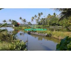 Water front 2 Acre 60 Cents Land for Sale at Ernakulam