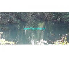 River attached 1.80 Acres Farm Land with House for Sale near Kuttikol