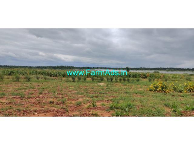 8 Acres Agricultural land Lake attached for sale at Hiriyur.