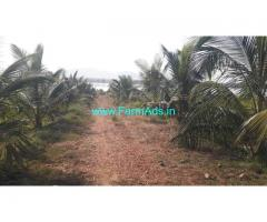 7 Acres Develeped Lake attached farm land for sale at Hiriyur