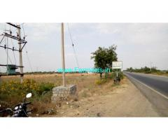 Highway Attached 1 Acre 4 gunte Farm Land Sale near Hiriyur