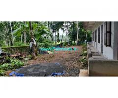 40 Cents Rubber Farm Land with House for Sale near Thrissur
