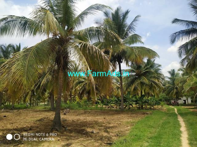 9 Acres Lake attached Farm land for sale near Kunigal