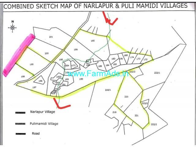 Agriculture Land for sale 130 Acres in Chegunta narlapur puli mamidi