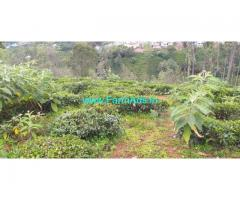 50 cent land for sale at Coonoor, From Wellington 4km and from Coonoor 7km