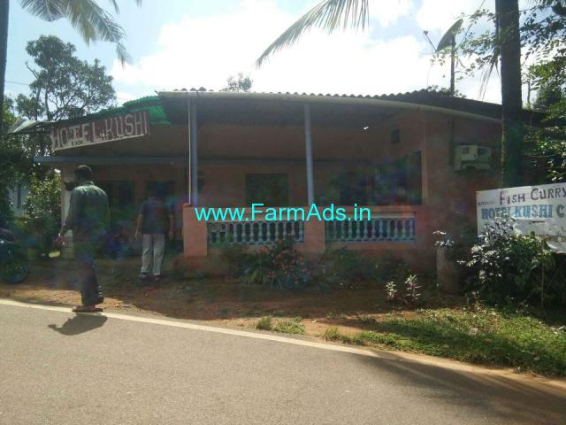 1 acre estate with home Madikeri to bhagamandala main road