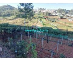 12 Cents farm land for sale in Kotagiri 9 kms from kotagiri town