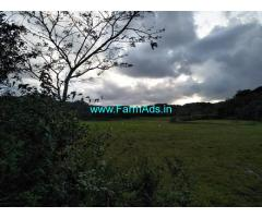 1 acre plain land sale in Mudigere