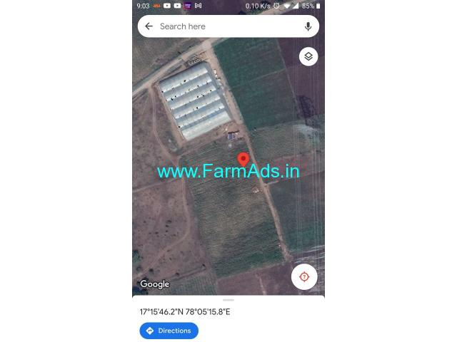 One acre Farm land available for Sale at near Chevella