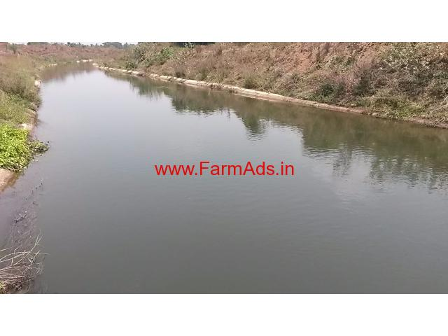 1 and 1/2 Acre Canal touch land 25 kms Mysore city