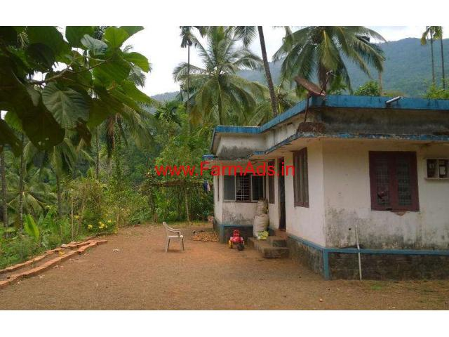 5.5 Acre River Side Farm land with House for sale near Alakode