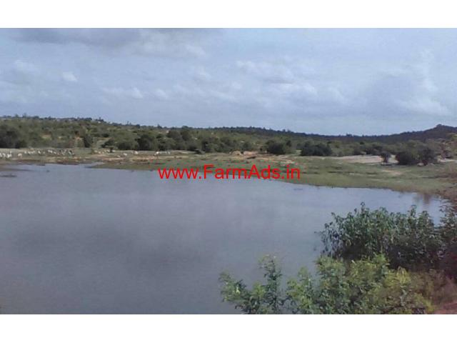20 Acres Lake side farm land for sale in Kalakada Mandal - Chitoor