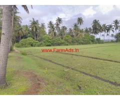 7 Acre land attached to beach with old house for sale in Honnavar.