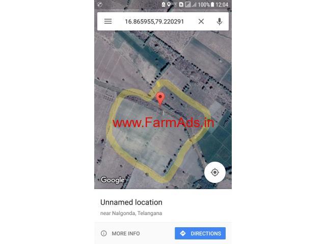 27.19 Acres Black Top Road side farm land for sale Anumula Mandall