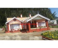 60 Cents Land with Old Heritage Bunglow for sale at Ooty