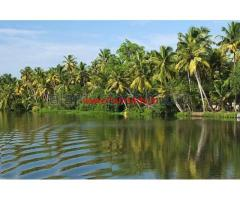 Total 206 cents River side land for sale 2 km from Santhekatte, Udupi