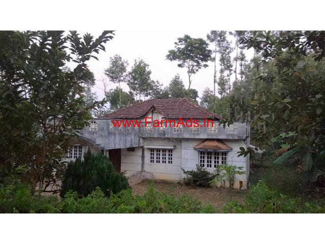 1.30 Acre Farm Land with Farm House for sale at Chikmagalur
