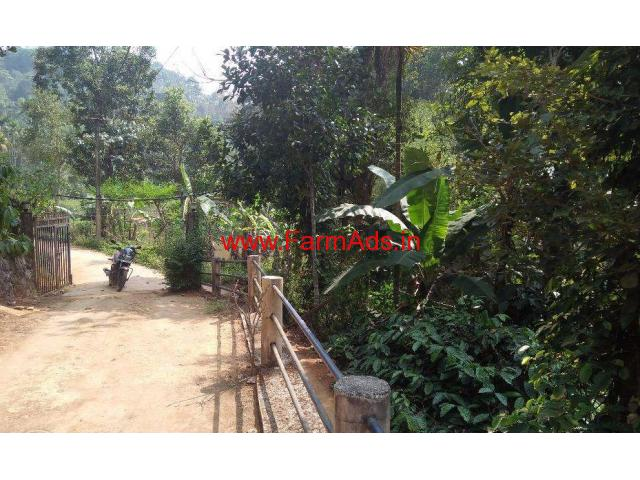 One acre land with house for sale near Soojippara water falls, Wayanad
