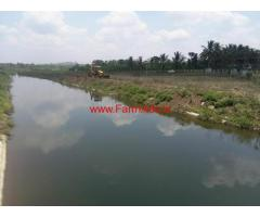 1.5 Acre Channel side Farm Land for sale on Mysore hullahalli
