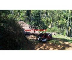 1.5 acre coffee estate for sale in kalasa with a small house
